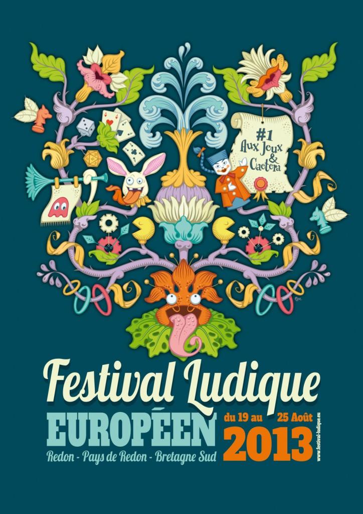 Affiche Aux jeux Etc - Festival Ludique Européen