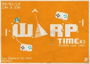 Soirée WARP TIME 09/01/2014
